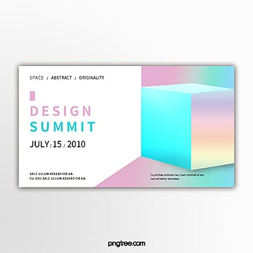 holographic gradual geometry space activity exhibition banner Template