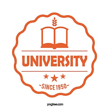 orange round simple books university educational logo Template