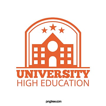 orange simple creative university educational school logo Template