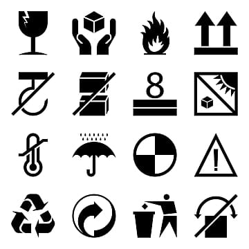 Packaging Symbols Png, Vector, PSD, and Clipart With