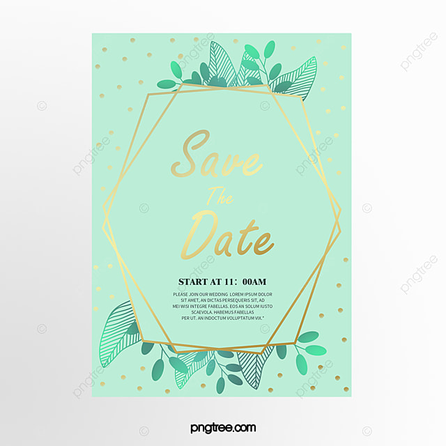 Mint Green Forest Plants Green Geometry Gold Brief Wedding