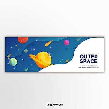 gradual banner of outer space fluid Template