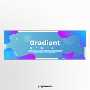 blue fluid gradient border decorative template Template