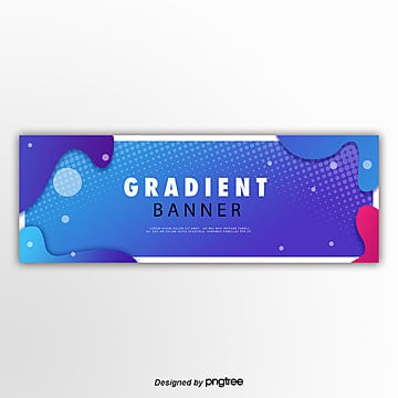 blue fluid gradient decorative border Template