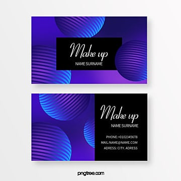 color geometry trend line spherical creative business card Template