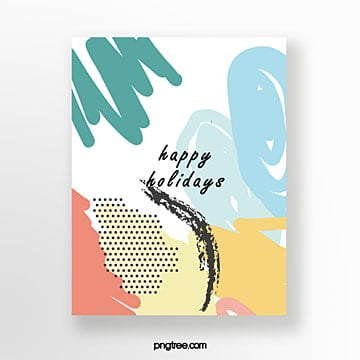 creative hand painted graffiti greeting cards Template