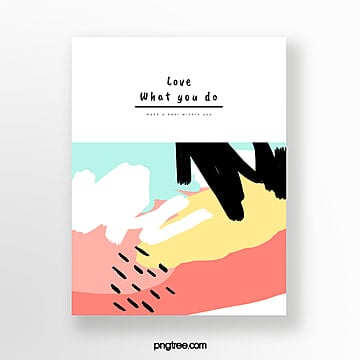 fresh color graffiti hand painted greeting cards Template