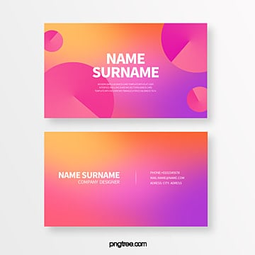 gradual circular geometry trend creative style business card Template