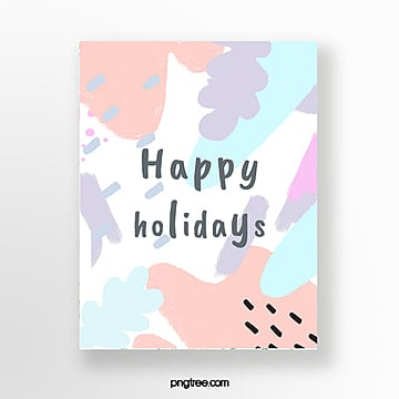 makaron color department hand painted graffiti greeting cards Template