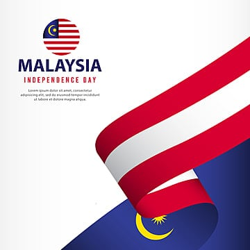 malaysia independence day celebration banner set design vector template illustration Template