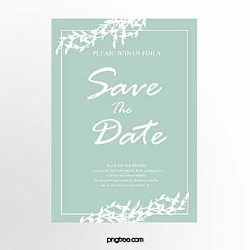 mint green wild herbs decoration brief wedding invitation letter Template