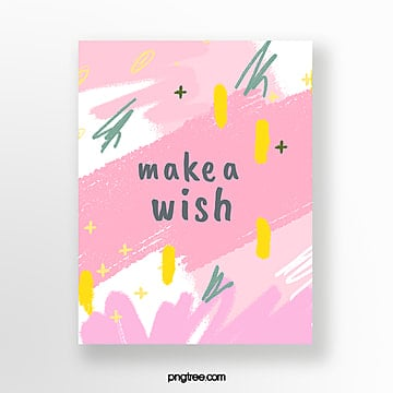 pink hand painted graffiti greeting cards Template