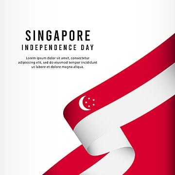 singapore independence day celebration banner set design vector template illustration Template
