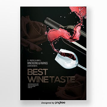 wine tasting invitation letter high end fashion flyer Template
