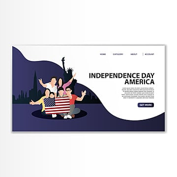america independence day landing template Template