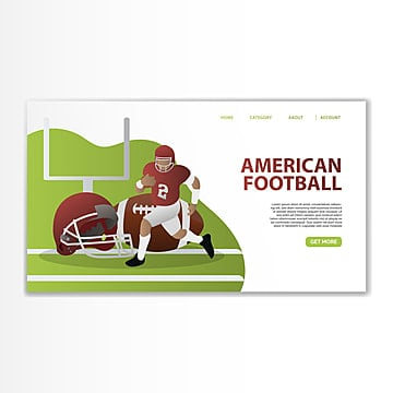 american football landing template Template