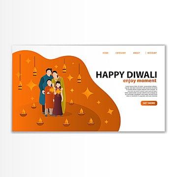 diwali india landing template Template