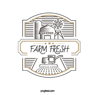 original hand painted simple farm logo Template