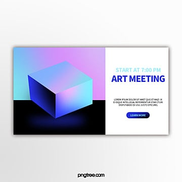 holographic color perspective geometry trend creative activity exhibition flag Template