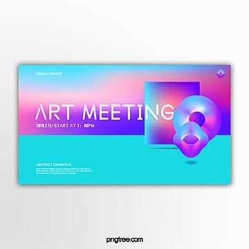 irregular geometric polychromatic holographic gradient activity exhibition banner Template