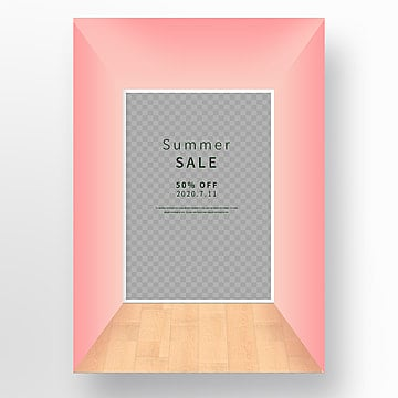 simple korean style three dimensional space painting poster Template