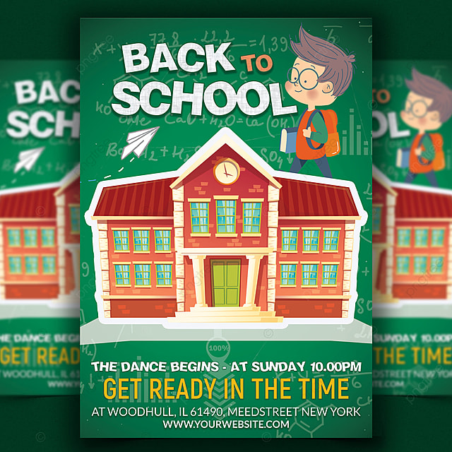 Back To School Flyer Print Templates Template for Free