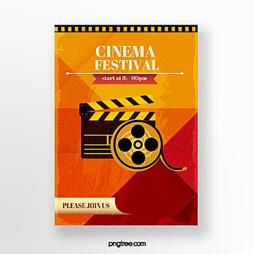 clap sheet film icon festival poster Template