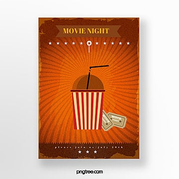 cola movie ticket icon film festival poster Template
