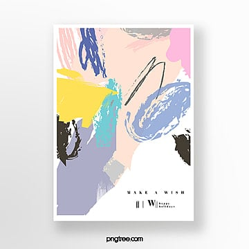 color doodle texture cartoon greeting card Template