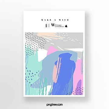 minimalistic creative hand drawn doodle greeting card Template