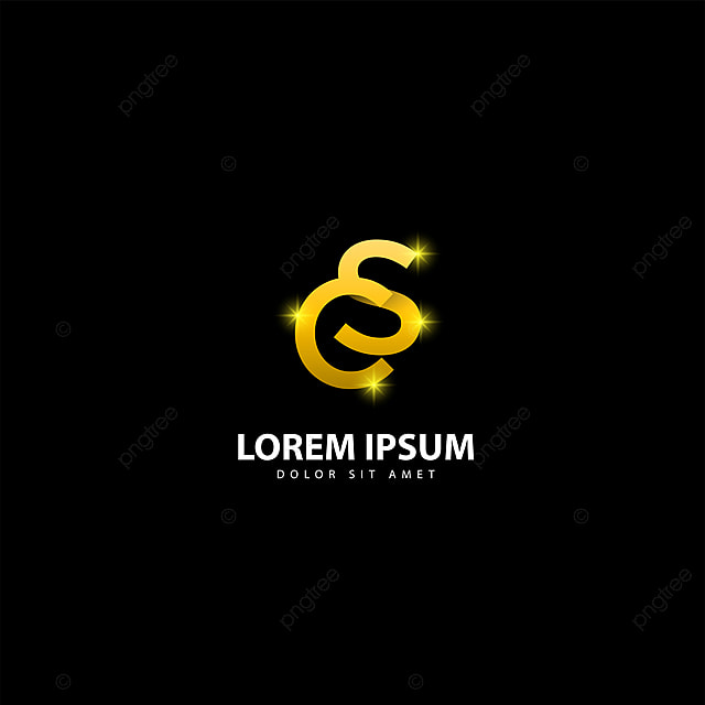 Gold Letter S Logo Sc Letter Design Vector With Golden