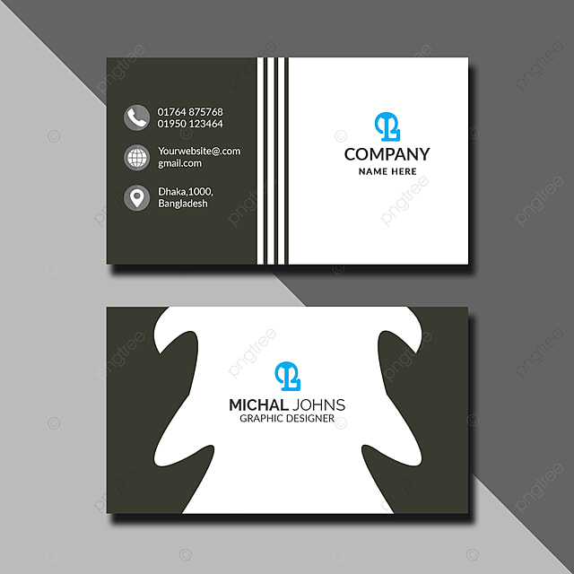 Simple Stylish Black Business Card Template for Free