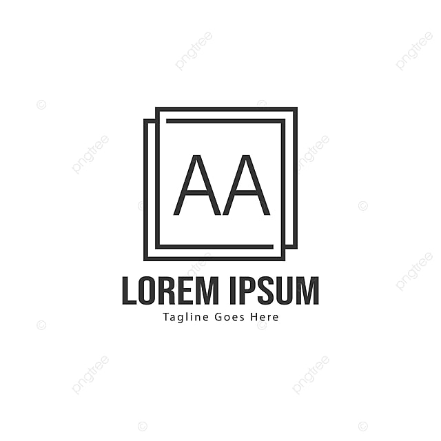 Aa Letter Logo Design Creative Modern Aa Letters Icon
