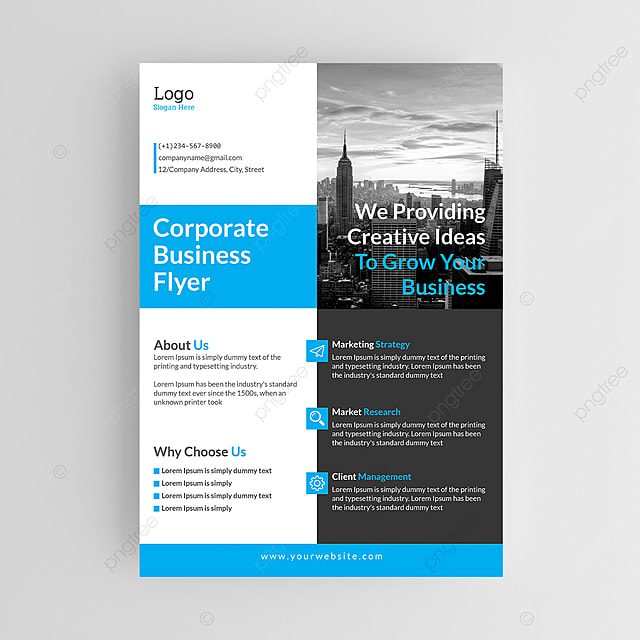 clean and simple business branding flyer design template