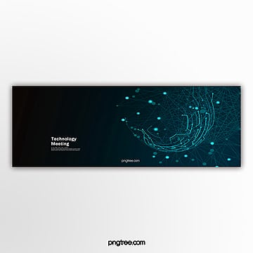 blue business technology activity popup Template