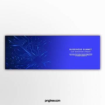Blue business technology banner Template