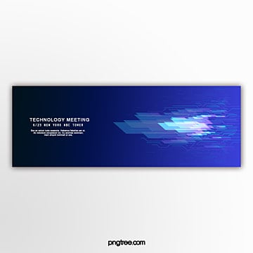 blue dynamic technology business banner Template