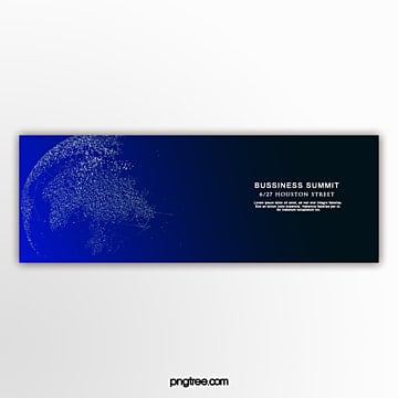 Blue gradient technology sense business banner Template