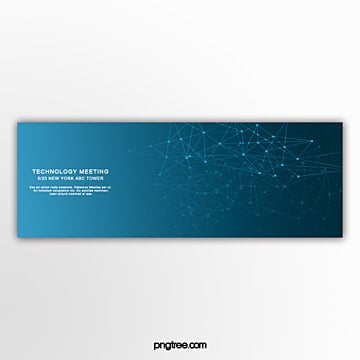 blue technology line commercial banner Template