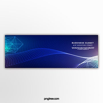 blue technology sense activity banner Template
