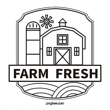 farm fresh building windmill line vector logo Template