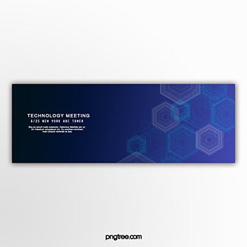 geometric pattern business technology banner Template