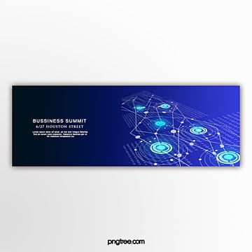 gradient technology shengye commercial line banner Template
