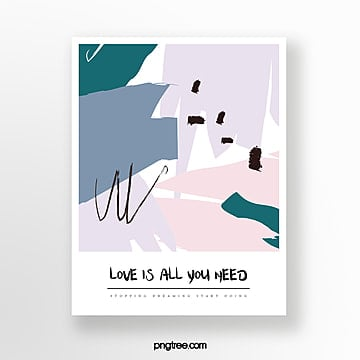hand drawn doodle greeting card Template