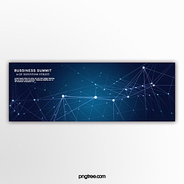 technology business geometric line banner Template