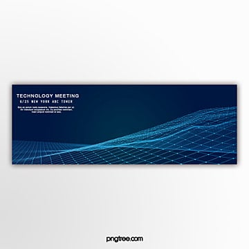 technology line business banner Template