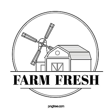 black line farm sign Template