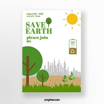 Cartoon style green theme poster Template