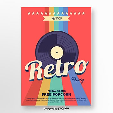color film retro holiday party poster Template