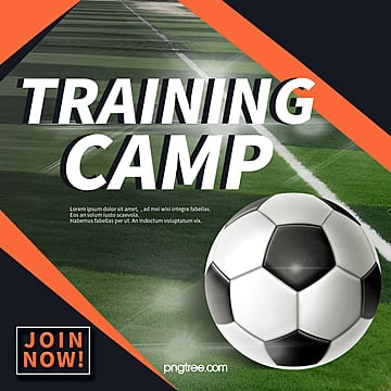 commercial style training camp activity pop up window Template
